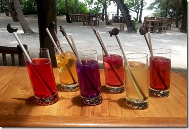 Soneva Fushi - flower iced teas