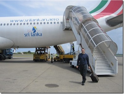Sri Lankan Airlines arrival