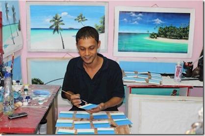 Sun Island Azum artist
