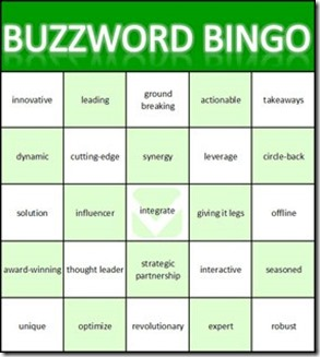 Sustainable Tourism Buzzword Bingo
