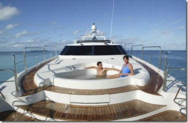 The Rania Experience yacht jacuzzi