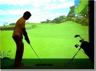 The Beach House at Manafaru Golf Simulator