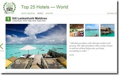 TripAdvisor Top 25 Hotels of the World