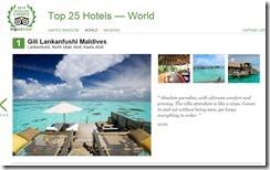 TripAdvisor Top 25 Hotels of the World