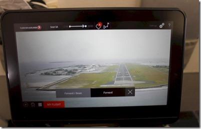 Turkish Airlines - landing screen