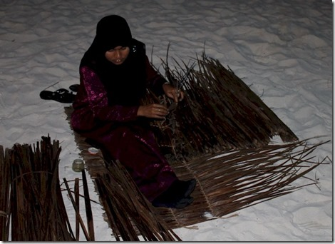 Vakarufalhi cultural expo palm weaving