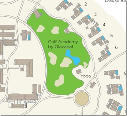 Velaa - golf course map