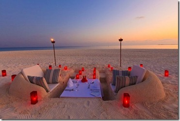 Velassaru beach dining