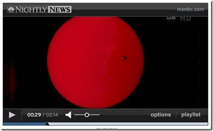 Venus solar eclipse