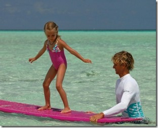 Four Seasons Kuda Huraa - kids surfing