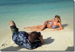 Maldives model beach shoot