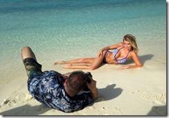 Maldives model beach shoot