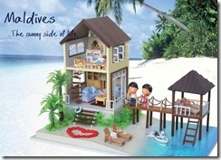 Maldives water villa play set