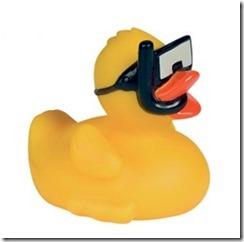 Snorkel rubber ducky