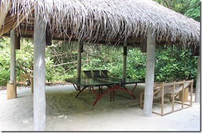 Soneva Fushi table tennis pavillion