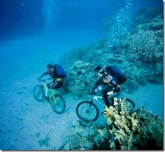 Underwater biking