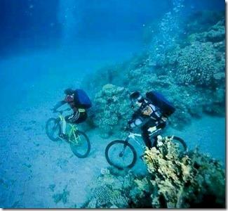 Underwater biking