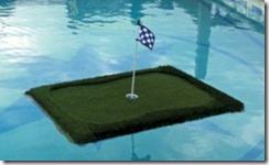 floating golf green Maldives