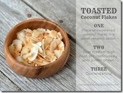 toast cocnut flakes
