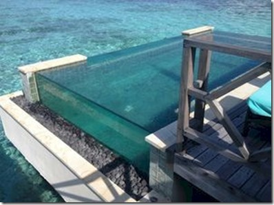 Four Seasons Kuda Huraa - glass sided pool