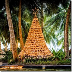One and Only Reethi Rah coconut Christmas tree