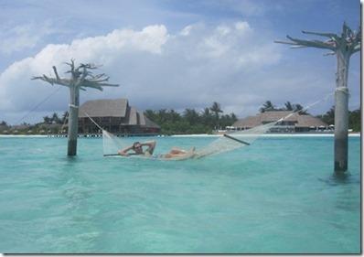 Anantara Dhigu - lagoon hammock