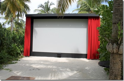 Anantara Kihavah Villas - outdoor 3D cinema