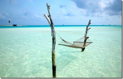 Gili Lankanfushi - lagoon hammock