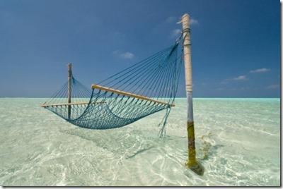 Maldives lagoon hammock