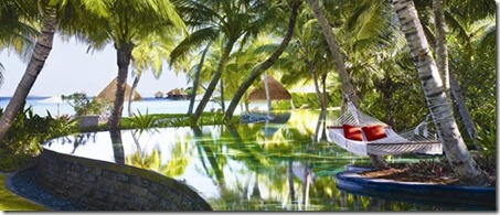 One and Only Reethi Rah pool hammock