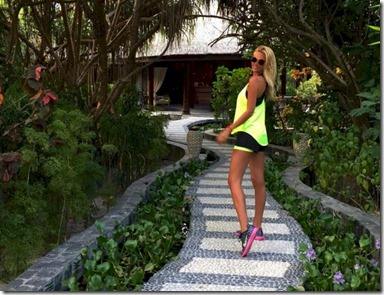 JA Manafaru - spa path with Victoria Lopyreva