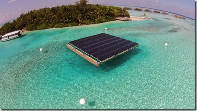 Gili Lankanfushi - floating solar panels
