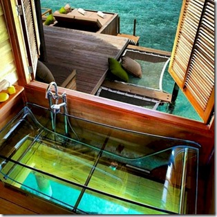 Six Senses Laamu - glass tub