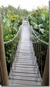 Soneva Fushi rope bridge