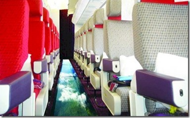 Virgin Airline glass bottom plane