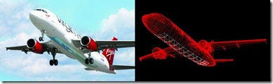 Virgin Airline glass plane