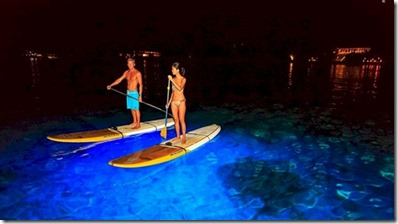 Six Senses Laamu - night paddling