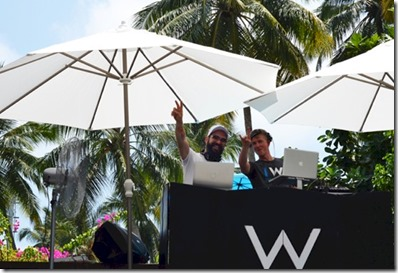 W Retreat - shockwave pool party DJs