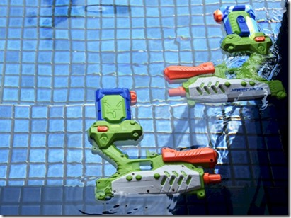 W Retreat - shockwave pool party water guns