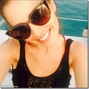Cheryl Fernandez-Versini Maldives social media
