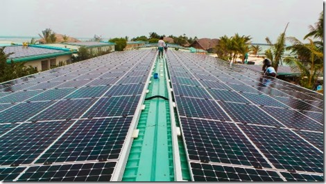 Club Med Finolhu - solar panels 2