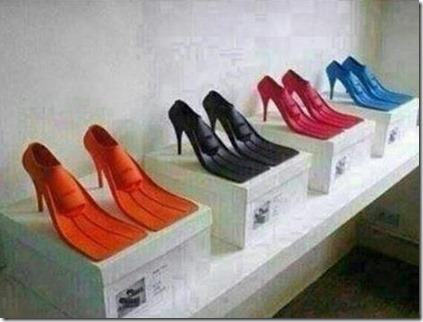 High heel fins