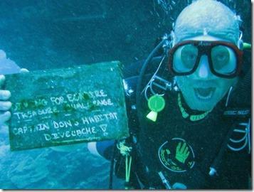 Underwater geocache