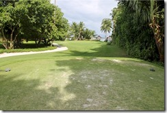 Shangri-La Villingili - golf course - hole 1 - tee view