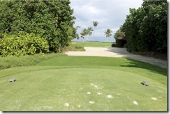 Shangri-La Villingili - golf course - hole 4 - tee view
