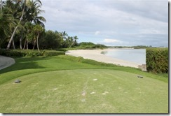 Shangri-La Villingili - golf course - hole 5 - tee view