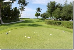 Shangri-La Villingili - golf course - hole 6 - tee view