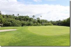 Shangri-La Villingili - golf course - hole 8 - green