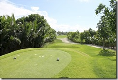 Shangri-La Villingili - golf course - hole 9 - tee view