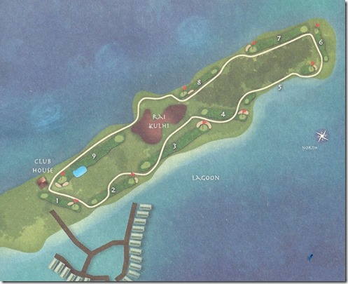 Shangri-La Villingili - golf course layout